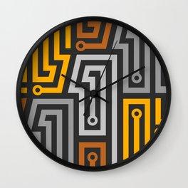 Techno Uno Wall Clock