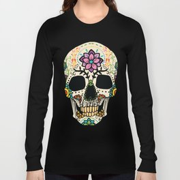Color Skull Long Sleeve T-shirt