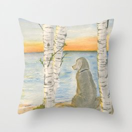 Shoreline Doggy Daze Throw Pillow