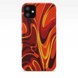 Abstract Lava Magma iPhone Case