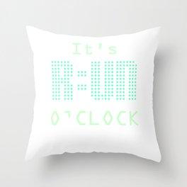 Running lunge running team running jogging marathon Throw Pillow