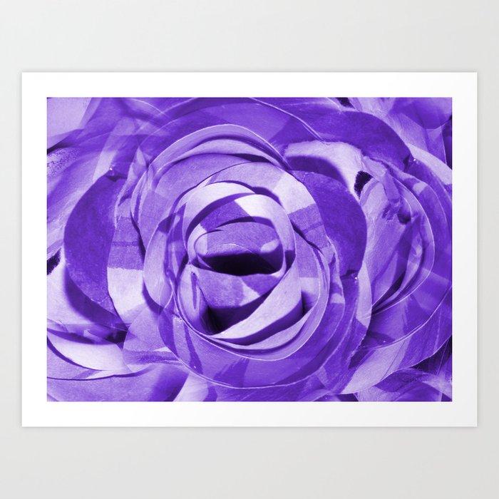 Purple painted paper flowers art print by christineclancy society6 purple painted paper flowers art print mightylinksfo
