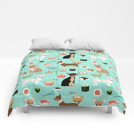 chihuahua sushi dog lover pet gifts cute pure breed chihuahuas multi coat colors Comforters