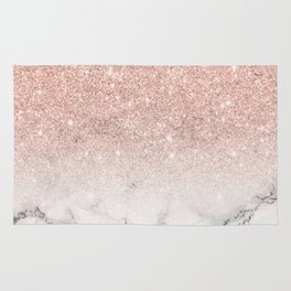 Marble white pink Rug