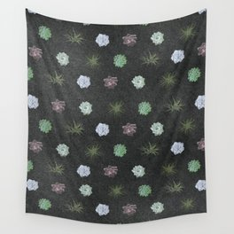 dark succulent pattern Wall Tapestry