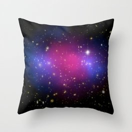 1840. MACS J0025.4-1222: A Clash of Clusters Provides Another Clue to Dark Matter  Throw Pillow
