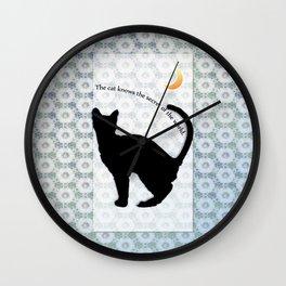 cat_moon Wall Clock