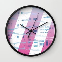 Abstract wings of freedom Wall Clock
