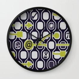 geek spirit (Acid green) Wall Clock