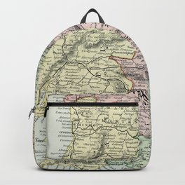 Spain and Portugal Vintage Map Backpack