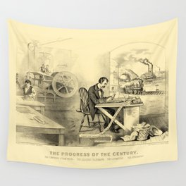 The Progress of the Century (Currier & Ives) Wall Tapestry