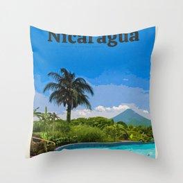 Visit Nicaragua Throw Pillow
