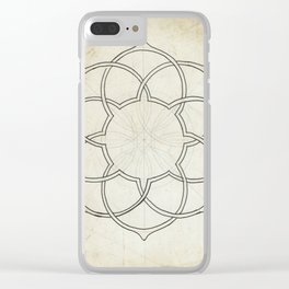 Geometry Sketch Eleven Clear iPhone Case