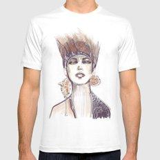 Punk fashion illustration  White Mens Fitted Tee MEDIUM