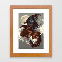 Bestiary / Manticore Framed Art Print