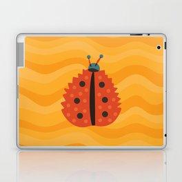 Orange Ladybug Autumn Leaf Laptop & iPad Skin