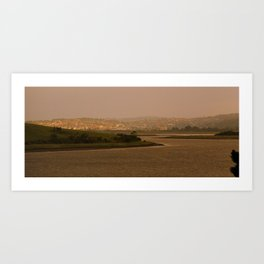 Launceston City on Sunset* Art Print