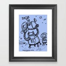 Blue Berserk Robot Ape Framed Art Print
