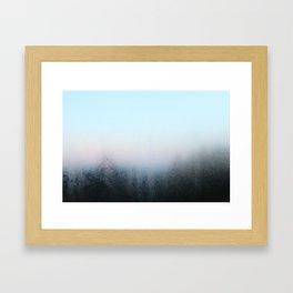 Misty Panes Framed Art Print