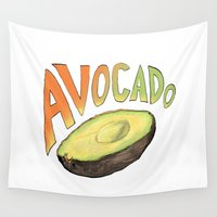 avocado Wall Tapestries featuring Avocado by Ken Coleman