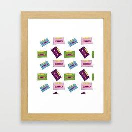 Estampado cassette Framed Art Print