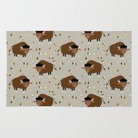 buffalo Area & Throw Rugs featuring Buffalo by Heleen van Buul