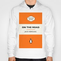 kerouac Hoodies featuring Penguin Book / On The Road - Jack Kerouac  by FunnyFaceArt