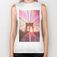 brooklyn bridge Biker Tanks featuring Brooklyn Bridge  by Vivienne Gucwa