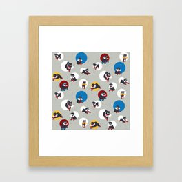 Pug Party Framed Art Print