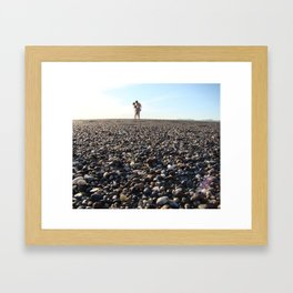 Pebbly Framed Art Print