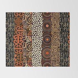 Geometric African Pattern Throw Blanket