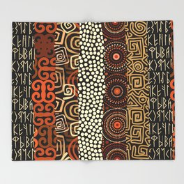 Geometric African Pattern Throw Blanket
