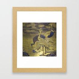Golden Birds Framed Art Print