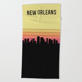 New Orleans Skyline Beach Towel