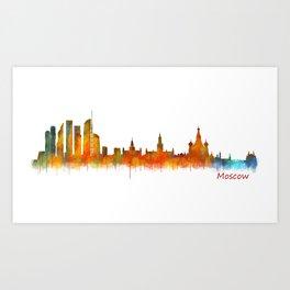 Moscow City Skyline art HQ v2 Art Print
