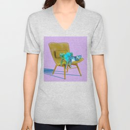 animals in chairs #12 Cats Unisex V-Neck