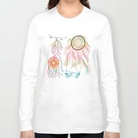 dream catcher Long Sleeve T-shirts featuring Dream Catcher by famenxt