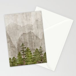 Mountain Range Woodland Forest Stationery Cards