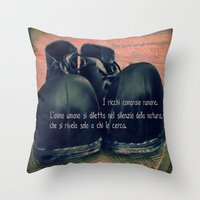 chaplin Throw Pillows featuring CHAPLIN by Ginevra
