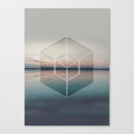 Tranquil Landscape Geometry Canvas Print