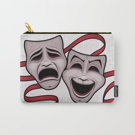 Comedy And Tragedy Theater Masks Carry-All Pouch