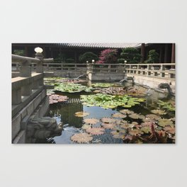 Temple waters  Canvas Print