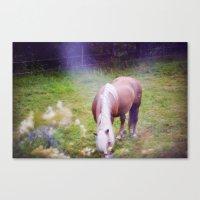 fairytale Canvas Prints featuring Fairytale by Maja Malmcrona Wrangstadh