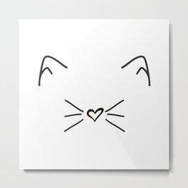 Cute Cat #society6 #decor #buyart #artprint Metal Print
