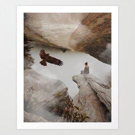 Women American Eagle by GEN Z Art Print