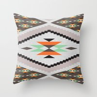 navajo Throw Pillows featuring Navajo by Priscila Peress