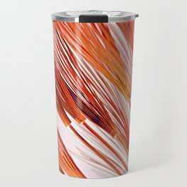 Coral Wheat Burst Travel Mug