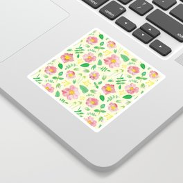California Rose Pattern Sticker