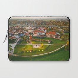 Kaunas old town, aerial view Laptop Sleeve