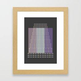 Pastel squares Framed Art Print
